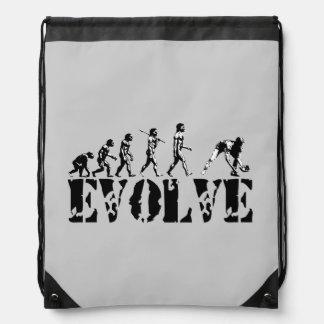Baseball Sports Grey Drawstring Backpack
