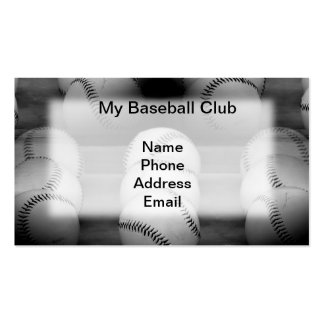 Baseball Sports Image Business Card Template