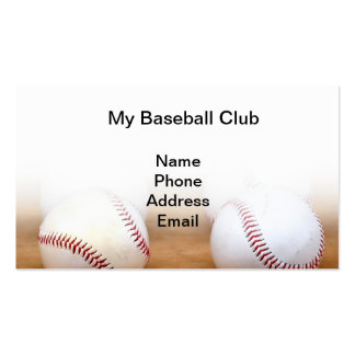 Baseball Sports Image Business Cards