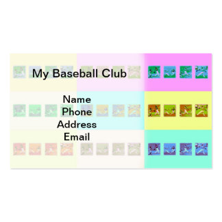Baseball Sports Images Business Card
