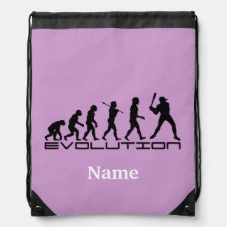 Baseball Sports Personalized Drawstring Bags