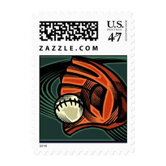 baseball sports postage stamp