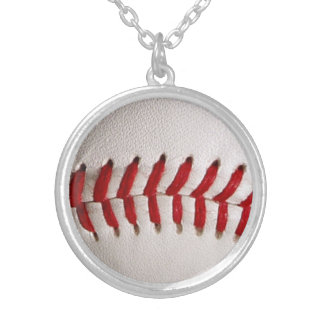 Baseball Sports Silver Plated Necklace