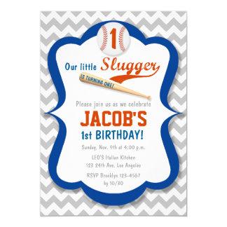 Baseball Sports Slugger Birthday Boy Invitation