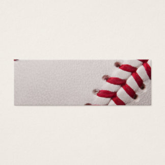Baseball - Sports Template Baseballs Background Mini Business Card