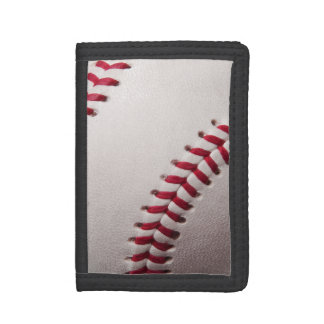 Baseball - Sports Template Baseballs Background Tri-fold Wallet