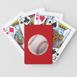 Baseball - Sports Template Baseballs on Red Bicycle Playing Cards