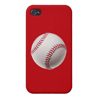 Baseball - Sports Template Baseballs on Red iPhone 4/4S Case