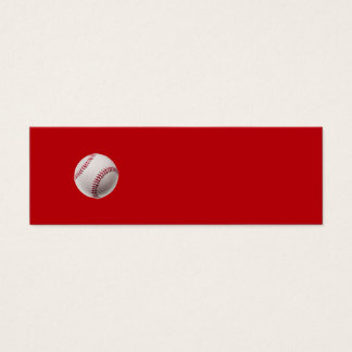 Baseball - Sports Template Baseballs on Red Mini Business Card