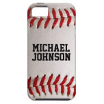 Baseball Sports Texture with Personalised Name iPhone 5 Cover