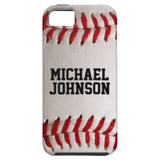 Baseball Sports Texture with Personalized Name iPhone 5 Cover