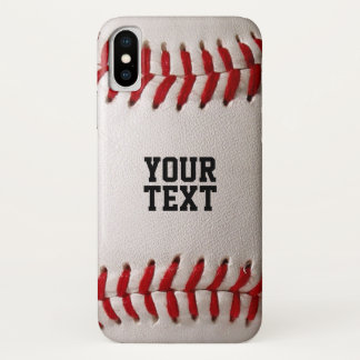 Baseball Sports Texture with Personalized Name iPhone X Case