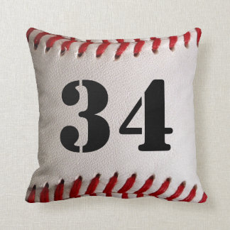 Baseball Sports with Large Customizable Number Cushion