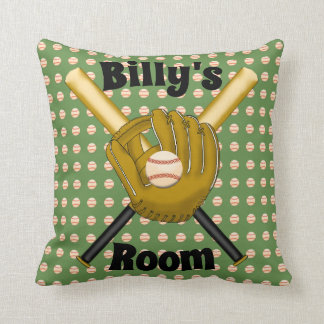Baseball Square Pillow