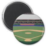 Baseball Stadium: 3D Model: Refrigerator Magnet