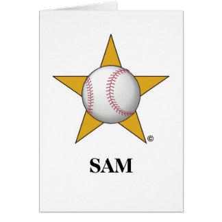 Baseball Star Card