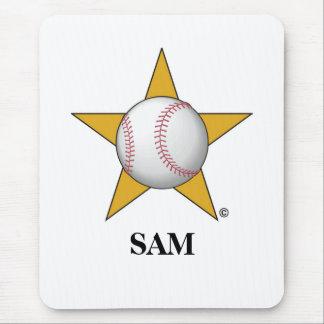 Baseball Star Mouse Pad