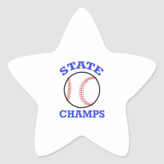 BASEBALL STATE CHAMPS STAR STICKERS