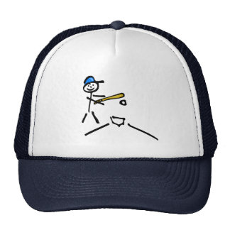 Baseball Stick Figure Cap