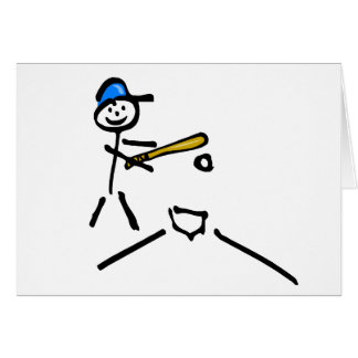 Baseball Stick Figure Card