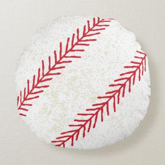 """Baseball Stitch 16"""" Round Throw Pillow"""