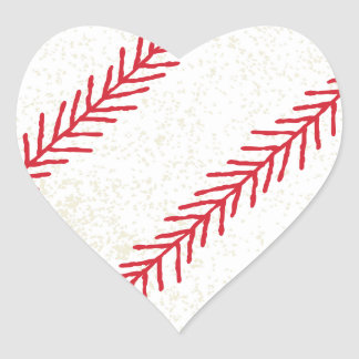 Baseball Stitch Heart Sticker