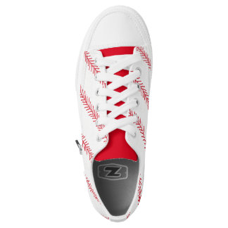 Baseball Stitch Zipz Low Top Shoes Printed Shoes