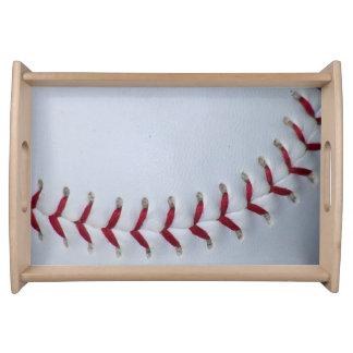 Baseball Stitches Serving Tray