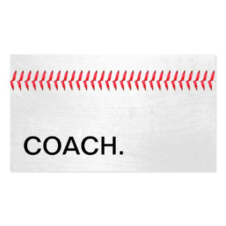 Baseball Stitches Sports Coach Pack Of Standard Business Cards