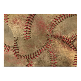 Baseball Stitching Collage Background Cards