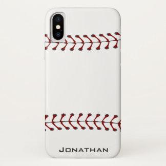 Baseball Stitching Design iPhone X Case