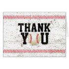 Baseball Stitching Sports Baby Shower Thank You Card