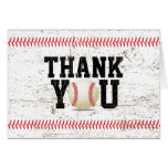 Baseball Stitching Sports Baby Shower Thank You Note Card
