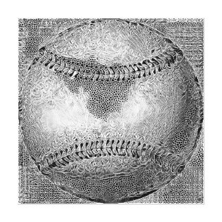 Baseball Stretched Canvas Art Print