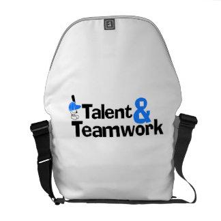 Baseball Talent And Teamwork Courier Bag