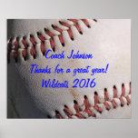 Baseball Team Coach Gift Poster
