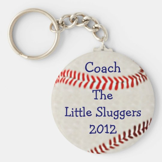 Baseball Team Coach Personalise It Basic Round Button Key Ring