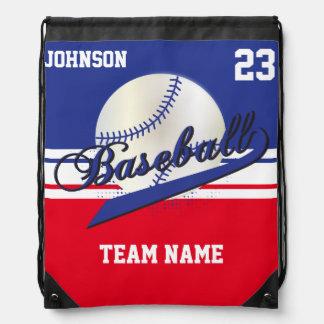 Baseball Team | Dark Blue, White, Red | DIY Text Backpack