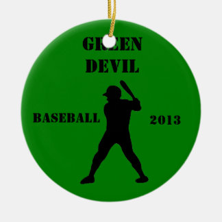 Baseball team keepsake christmas ornament