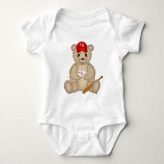 Baseball Teddy Bear Baby Bodysuit