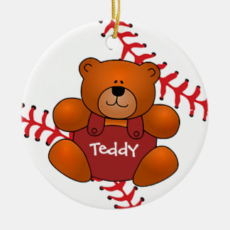 Baseball Teddy Bear Ornament