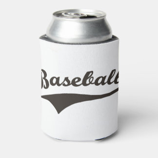 Baseball Text Can Cooler