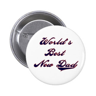 Baseball Text World's Best New Dad Buttons