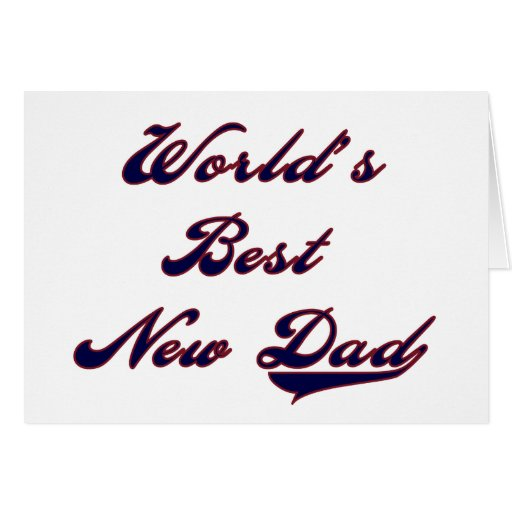 Baseball Text World's Best New Dad Greeting Cards