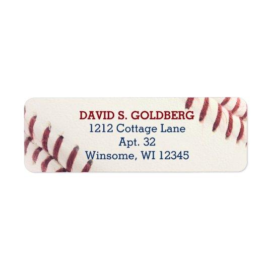 Baseball Texture Personalised Label