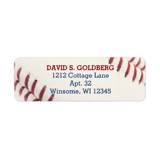 Baseball Texture Personalized Label