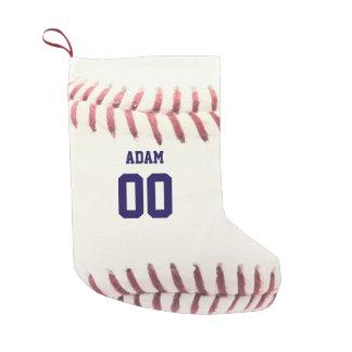 Baseball Texture Personalized Stocking