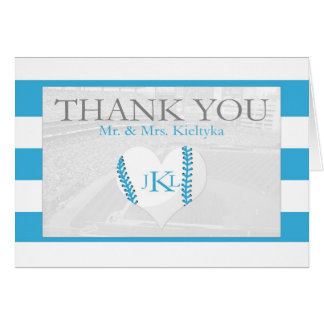 Baseball Thank You Card