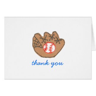 Baseball thank-you card