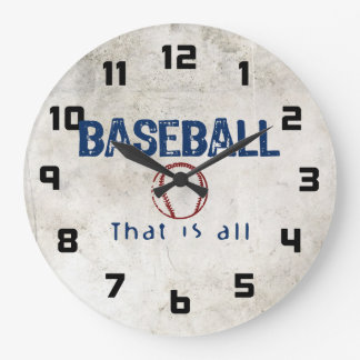 Baseball, That Is All Large Clock